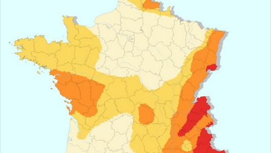 Carte des risques en France